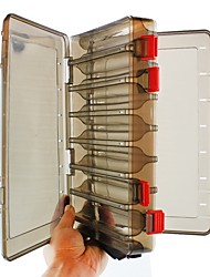 abordables -Boîte de pêche Boîte à appâts Normal 2 Plateaux Plastique