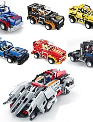 cheap -Building Blocks Construction Set Toys Educational Toy 408 pcs Car compatible Legoing Transformable Remote Control / RC Creative All Boys' Girls' Toy Gift