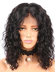 cheap -Remy Human Hair Lace Front Wig Bob Short Bob style Brazilian Hair Curly Wig 130% Density Women's Short 8-14 Human Hair Lace Wig beikashang