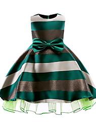 cheap -Kids Girls' Basic Color Block Sleeveless Dress Green