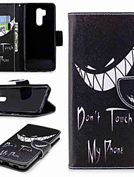 cheap -Case For LG LG V30 / LG V20 / LG Q6 Wallet / Card Holder / with Stand Full Body Cases Word / Phrase Hard PU Leather / LG G6