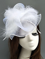 cheap -Feather / Net Fascinators / Hats / Headpiece with Feather / Floral / Flower 1pc Wedding / Special Occasion Headpiece
