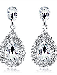 cheap -Crystal Drop Earrings Pear Cut Chandelier Drop Ladies Fashion Elegant Bridal Bling Bling everyday Earrings Jewelry Silver For Wedding Party / Evening