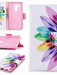 cheap -Case For LG LG V30 / LG V20 / LG Q6 Wallet / Card Holder / with Stand Full Body Cases Flower Hard PU Leather / LG G6