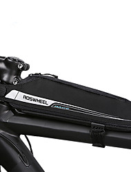 cheap -0.4 L Bike Frame Bag Top Tube Triangle Bag Portable Durable Bike Bag Waterproof Material Bicycle Bag Cycle Bag Cycling / Bike / Waterproof Zipper