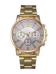 cheap -Men's Dress Watch Quartz Stainless Steel Gold 30 m Chronograph Analog Classic Casual - Gold Pink White / Gold One Year Battery Life / SSUO LR626