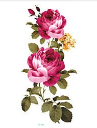 cheap -5 pcs Tattoo Stickers Temporary Tattoos Flower Series Body Arts Face / Body / Hand