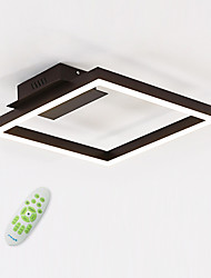 cheap -Linear Geometric Flush Mount Ambient Light Painted Finishes Metal Acrylic Bulb Included 110-120V / 220-240V Warm White / White / Dimmable With Remote Control LED Light Source Included / LED Integrated