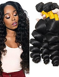 cheap -3 Bundles Indian Hair Wavy Unprocessed Human Hair 300 g Natural Color Hair Weaves / Hair Bulk Human Hair Extensions 8-28 inch Natural Color Human Hair Weaves Best Quality Hot Sale For Black Women