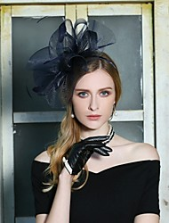 cheap -Tulle Kentucky Derby Hat / Headwear with Feather 1pc Wedding / Party / Evening Headpiece