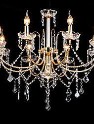 cheap -LWD 9-Light 75 cm Crystal / Creative / New Design Chandelier Metal Glass Candle-style Electroplated Chic & Modern / Modern 110-120V / 220-240V