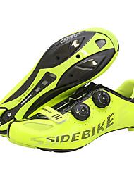cheap -SIDEBIKE Road Bike Shoes Carbon Fiber Anti-Slip Cycling Yellow Men's Cycling Shoes / Synthetic Microfiber PU