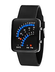 Недорогие -Муж. Жен. электронные часы Цифровой силиконовый Черный / Белый / Синий 30 m Защита от влаги ЖК экран 3D в мультяшном стиле Цифровой Cool Элегантный стиль - Черный Красный Синий / Один год