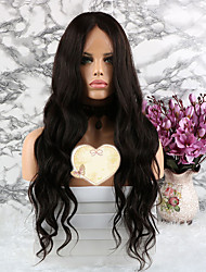 cheap -Remy Human Hair Lace Front Wig Layered Haircut style Brazilian Hair Wavy Natural Wig 130% Density with Baby Hair Women's Short Medium Length Long Human Hair Lace Wig Luckysnow