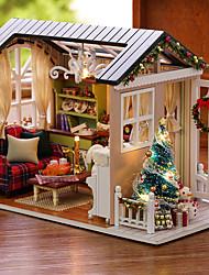 abordables -Maison de Poupées Créatif A Faire Soi-Même Exquis Noël Mini Meuble En bois Romantique 1 pcs Tous Fille Jouet Cadeau