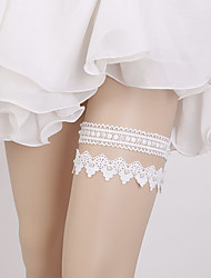 cheap -Lace Classic Jewelry / Vintage Style Wedding Garter With Pearl Garters Wedding / Party & Evening