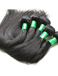 cheap -5 Bundles Indian Hair Straight Virgin Human Hair Remy Human Hair Human Hair Extensions Natural Color Human Hair Weaves New Arrival Hot Sale African American Wig Human Hair Extensions / 10A