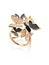 cheap -Crystal Brooches Floral / Botanicals Flower Butterfly Ladies Vintage Sweet Fashion Brooch Jewelry White Black For Party Evening Party Birthday