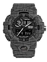 Недорогие -Жен. Спортивные часы электронные часы Японский Цифровой силиконовый Черный 50 m Защита от влаги Календарь Творчество Аналого-цифровые Серый Зеленый Синий Два года Срок службы батареи