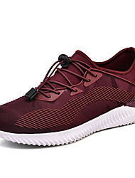 cheap -Men's Comfort Shoes Tulle / PU Fall Athletic Shoes Running Shoes / Walking Shoes Color Block Black / Burgundy / Gray