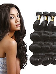 cheap -3 Bundles Peruvian Hair Wavy Unprocessed Human Hair 100% Remy Hair Weave Bundles Black Natural Color Human Hair Weaves Extention Best Quality For Black Women Human Hair Extensions / 8A