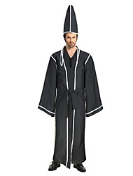 cheap -Angel / Devil Ghost Costume Unisex Halloween Halloween Carnival Children's Day Festival / Holiday Polyster Outfits Black Solid Colored Angel & Devil Halloween
