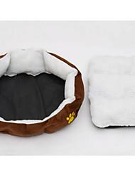 Недорогие -Собаки Коты Матрас Кровати Одеяла Компактность Дышащий Сохраняет тепло Животные Коврики и подушки Плюшевая ткань Однотонный Footprint / Paw Цвет отправляется в случайном порядке