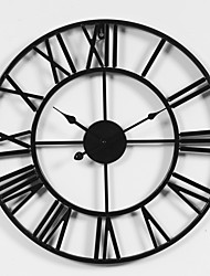 "cheap -Wall Clock,Rustic Designed in China Rhodium Plated Metal Round Indoor / Outdoor Indoor Outdoor 20"" x 20"" (50cm x 50cm)"