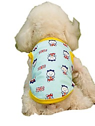 cheap -Dogs Cats Pets Vest Dog Clothes Yellow Blue Costume Beagle Bulldog Shiba Inu Cotton / Polyester Character British National Flag Stylish Sweet XS S M L XL
