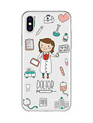 cheap -Case For Apple iPhone X / iPhone 8 Plus / iPhone 8 Pattern Back Cover Cartoon Soft TPU