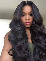 cheap -Remy Human Hair Full Lace Wig style Brazilian Hair Wavy Body Wave Wig 150% Density with Baby Hair Natural Hairline Bleached Knots Women's Long Human Hair Lace Wig
