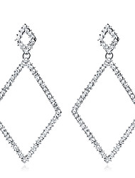 cheap -Crystal Drop Earrings Chandelier Drop Ladies Elegant Fashion Bridal Earrings Jewelry Silver For Wedding Party / Evening