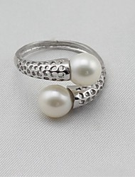 cheap -Women's Band Ring Knuckle Ring wrap ring Pearl Silver Pearl S925 Sterling Silver Alloy Ladies Classic Fashion Gift Daily Jewelry