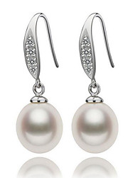 cheap -Women's Pearl Freshwater Pearl Drop Earrings Natural Elegant Pearl S925 Sterling Silver Freshwater Pearl Earrings Jewelry White For Party Gift