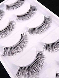 cheap -Eyelash Extensions False Eyelashes 10 pcs Professional Natural Curly Extra Long Fiber Daily Full Strip Lashes - Makeup Daily Makeup Professional High Quality Cosmetic Grooming Supplies