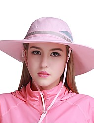 cheap -VEPEAL Hiking Hat Boonie hat Hat Wide Brim Lightweight Windproof Sunscreen UV Resistant Patchwork Mesh Fashion Chinlon Summer for Women's Fishing Traveling Outdoor Purple Pink Khaki / Quick Dry