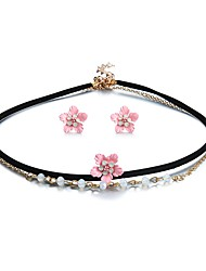 cheap -Crystal Jewelry Set Flower Ladies Classic Basic Sweet Earrings Jewelry Rainbow For New Year Bar
