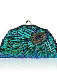 cheap -Women's Beading Terylene Evening Bag Wedding Bags Embroidery Black / Blue / Purple
