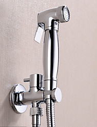 cheap -Fancy Bathroom Sink Faucet - Pre Rinse Chrome Wall Mounted One Hole / Single Handle One HoleBath Taps