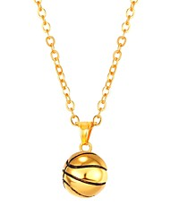 cheap -Pendant Necklace Ball Ladies Fashion Stainless Steel Gold Black Silver 55 cm Necklace Jewelry For Daily
