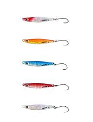 cheap -1 pcs Hard Bait Metal Bait Sinking Bass Trout Pike Bait Casting Spinning Jigging Fishing Metal / Freshwater Fishing / Carp Fishing / Bass Fishing / Lure Fishing / General Fishing