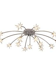 cheap -15-Light JLYLITE 80 cm Mini Style Flush Mount Lights Metal Glass Electroplated Artistic / Nature Inspired 110-120V / 220-240V / G4 / SAA / FCC / VDE