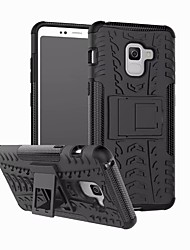 cheap -Phone Case For Samsung Galaxy Back Cover A3 A5 Shockproof with Stand Solid Color Hard PC
