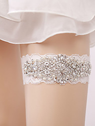 cheap -Lace Classic Jewelry / Lace Wedding Garter With Rhinestone / Gore / Paillette Garters Wedding / Party & Evening