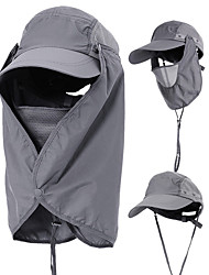 cheap -Hiking Cap Flap Hat Sun Hat Windproof UV Resistant Breathable 360° Solar Protection Spring Summer Removable Neck & Face Flap Cover Caps Mesh for Men Women Camping Hiking Fishing Climbing Pink Grey