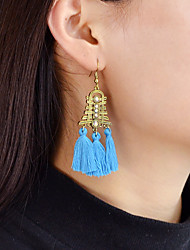 cheap -Synthetic Tourmaline Drop Earrings Tassel Turtle Ladies Tassel Fashion Earrings Jewelry Blue / Pink / Light Blue For Daily Date