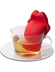 Недорогие -Силикон Творческая кухня Гаджет Язык 1шт Ситечко для чая