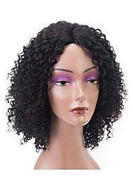 cheap -Remy Human Hair Lace Front Wig Bob Short Bob style Brazilian Hair Curly Wig 150% Density with Baby Hair 100% Virgin Women's Short Human Hair Lace Wig beikashang