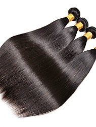 cheap -4 Bundles Indian Hair Straight Human Hair Unprocessed Human Hair 200 g Extension Bundle Hair One Pack Solution 8-28 inch Natural Natural Color Human Hair Weaves Silky Smooth Lovely Human Hair / 8A