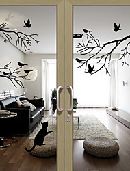 cheap -Window Film & Stickers Decoration Lovely / Halloween Character PVC(PolyVinyl Chloride) Window Sticker / Water-Repellent